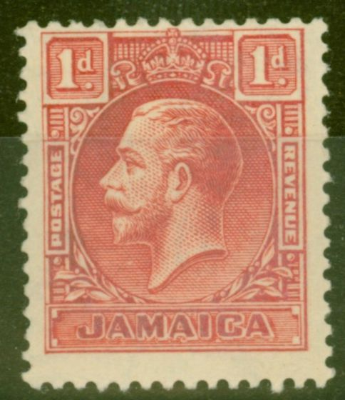 Collectible Postage Stamp from Jamaica 1929 1d Scarlet SG108 Die I Fine Lightly Mtd Mint