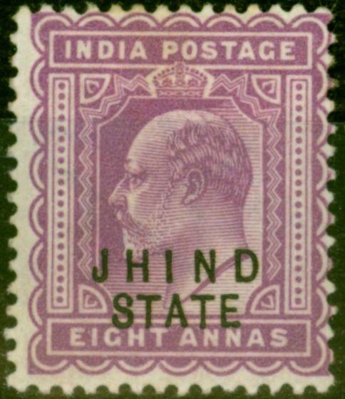 Jind 1903 8a Purple SG52 Fine Mtd Mint
