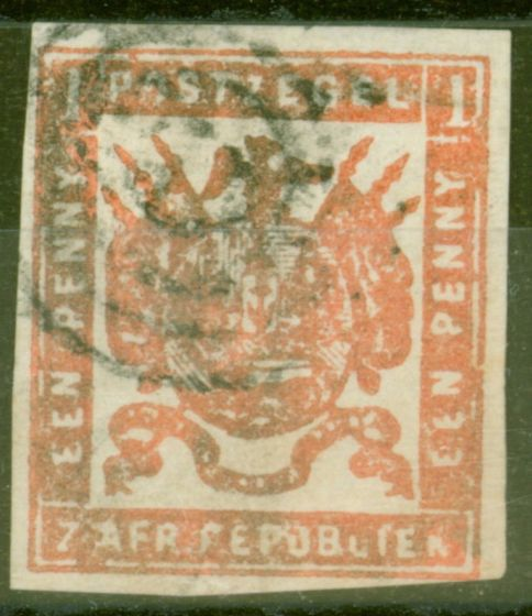 Collectible Postage Stamp from Transvaal 1870 1d Carmine-Red SG13a Fine Used
