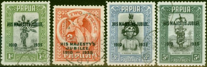 Rare Postage Stamp from Papua 1935 Jubilee Set of 4 SG150-153 Fine Used