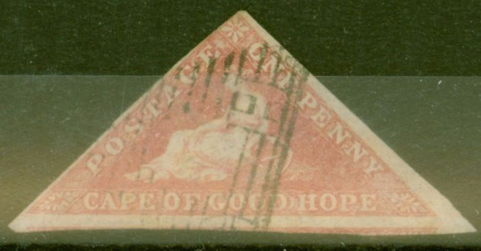 Collectible Postage Stamp from COGH 1858 1d Rose SG5a Fine Used