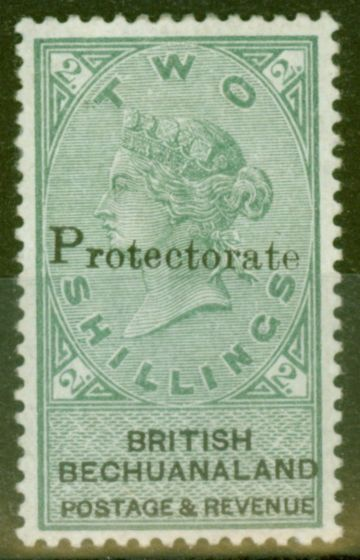 Rare Postage Stamp from Bechuanaland 1888 Protectorate 2s Green & Black SG47 V.F Lightly Mtd Mint Choice