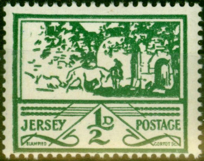 Jersey 1943 1/2d Green SG3 Fine MNH