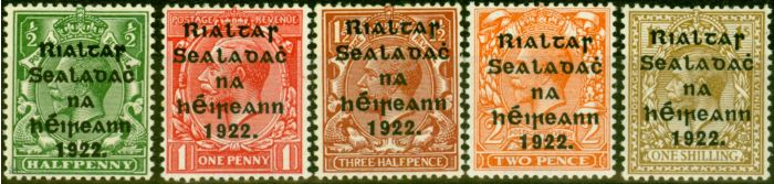Valuable Postage Stamp from Ireland 1922 Thom Set of 5 SG47-51 Fine Lightly Mtd Mint