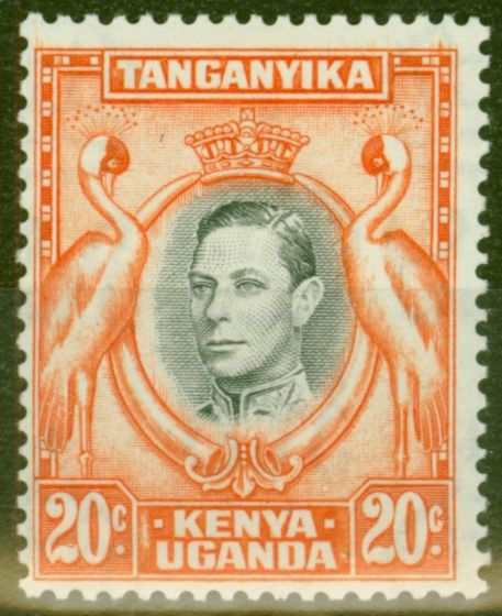 Old Postage Stamp from KUT 1938 20c Black & Orange SG139 Fine Mtd Mint