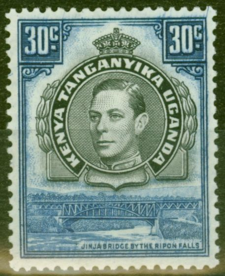 Valuable Postage Stamp from KUT 1938 30c Black & Dull Violet-Blue SG141 Fine Mtd Mint