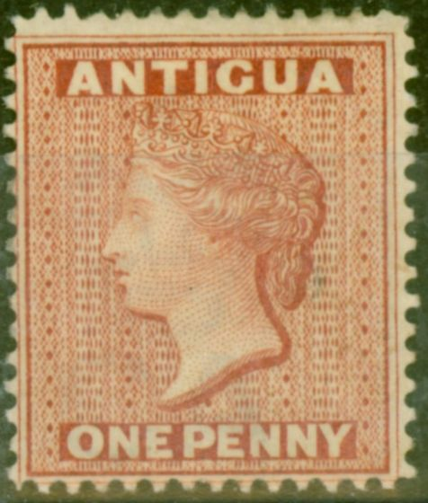 Valuable Postage Stamp from Antigua 1884 1d Rose SG26 Fine & Fresh Mtd Mint