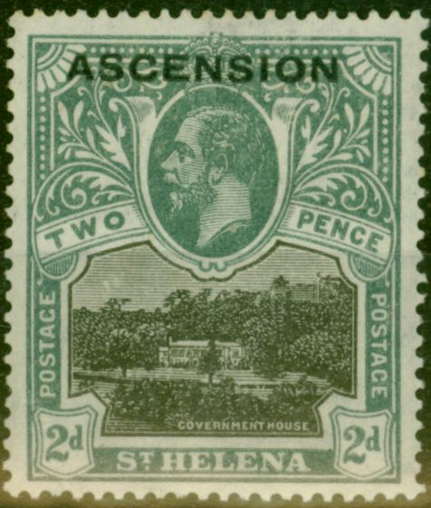 Collectible Postage Stamp from Ascension 1922 2d Black & Grey SG4 Fine Mtd Mint