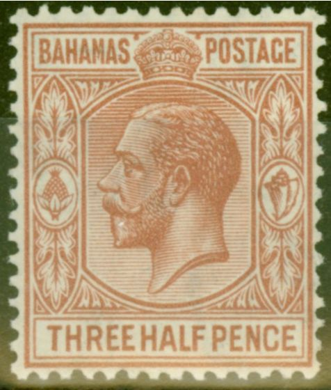 Old Postage Stamp from Bahamas 1934 1 1/2d Brown-Red SG117 V.F Very Lightly Mtd Mint