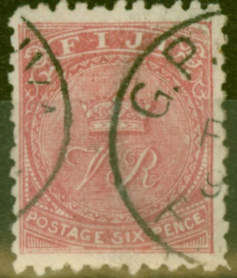 Collectible Postage Stamp from Fiji 1896 6d Brt Rose SG57b V.F.U