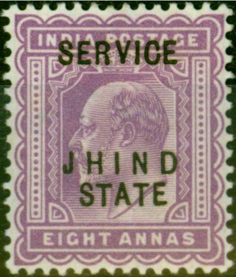 Jind 1903 8a Purple SG030 Fine Lightly Mtd Mint