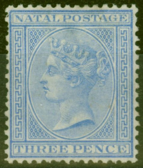 Valuable Postage Stamp from Natal 1874 6d Blue SG68 Fine Unused