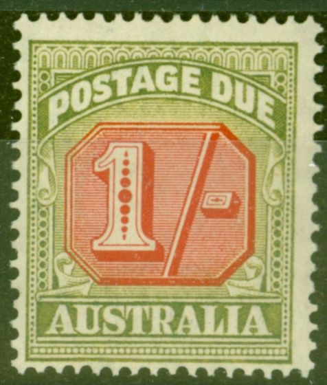 Old Postage Stamp from Australia 1947 1s Carmine & Green SGD128 (E) V.F Very Lightly Mtd Mint