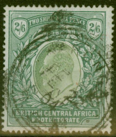 Valuable Postage Stamp from B.C.A Nyasaland 1903 2s6d Grey-Green & Green SG63 Fine Used