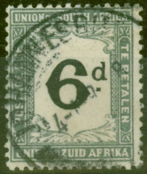 Old Postage Stamp from South Africa 1915 6d Black & Slate SGD6 Fine Used