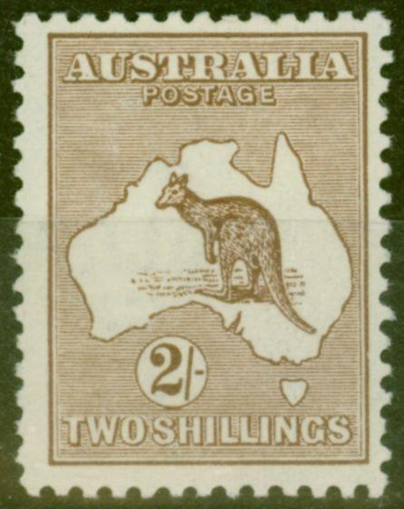 Rare Postage Stamp from Australia 1916 2s Brown SG41 V.F Lightly Mtd Mint