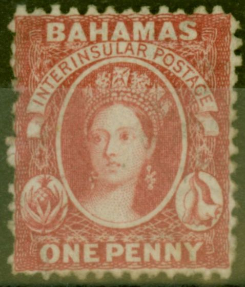 Collectible Postage Stamp from Bahamas 1863 1d Carmine-Lake SG21 Fine Mtd Mint