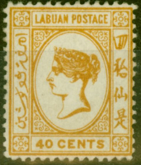 Collectible Postage Stamp from Labuan 1894 SG57 40c Orange-Buff Fine Mtd Mint