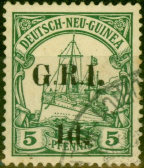 New Guinea 1914 1d on 5pf Green SG17 Fine Used
