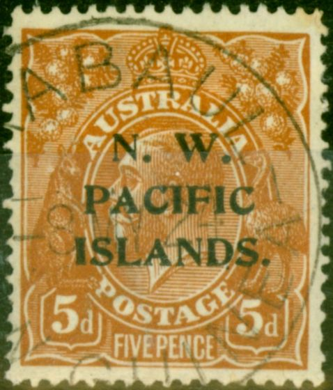 New Guinea 1919 5d Brown SG105 Fine Used