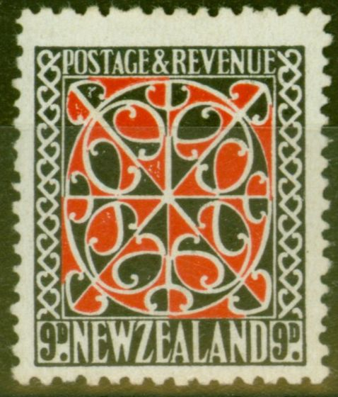 Old Postage Stamp from New Zealand 1941 9d Scarlet & Black SG630 Very Fine MNH