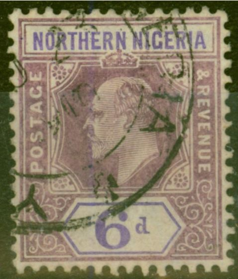 Collectible Postage Stamp from Northern Nigeria 1906 6d Dull Purple & Violet SG25 Fine Used