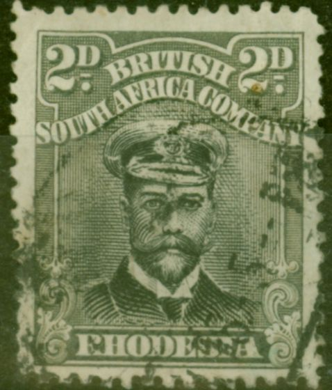 Rare Postage Stamp from Rhodesia 1919 2d Black & Grey SG257 Die III Fine Used