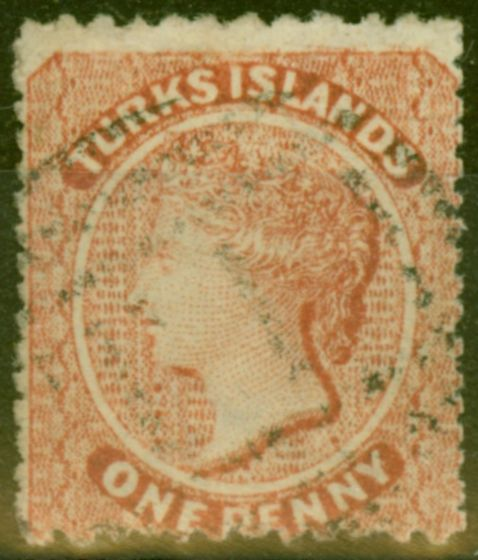 Valuable Postage Stamp from Turks & Caicos Is 1879 1d Dull Red SG5 Fine Used