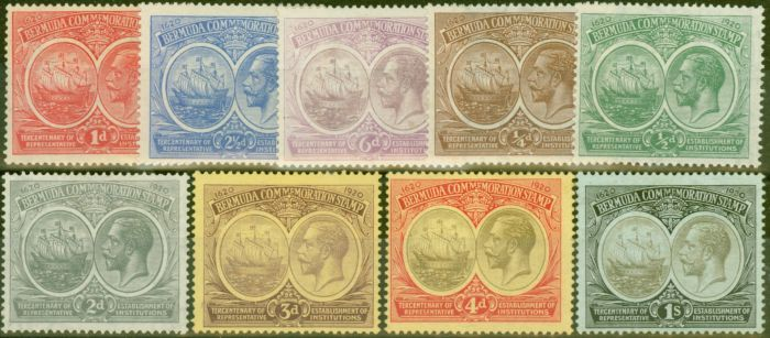 Collectible Postage Stamp from Bermuda 1920 set of 9 SG59-67 Fine Mtd Mint Stamps