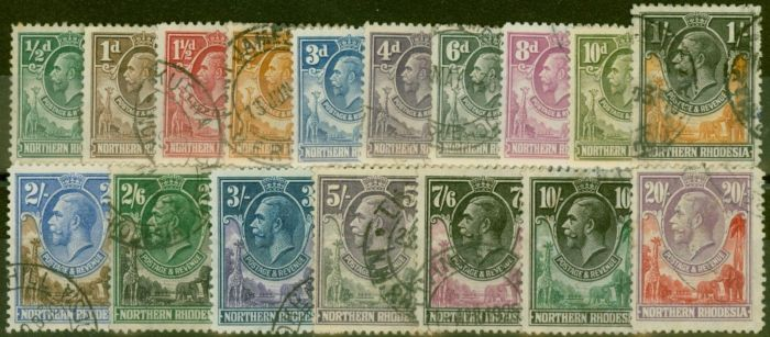Valuable Postage Stamp from Northern Rhodesia 1925 set of 17 SG1-17 Fine Used