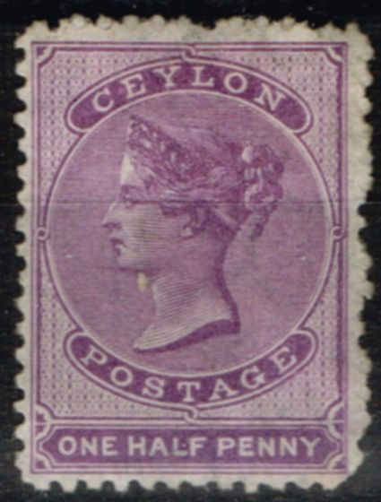 Ceylon 1864 1/2d Reddish Lilac SG48b Fine Lightly Mtd Mint