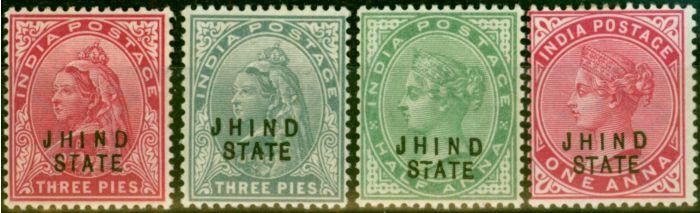 Jind 1900-04 Set of 4 SG36-40 Fine Mtd Mint