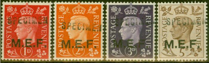 Old Postage Stamp from Middle East Forces 1942 Specimen set SGM1s-M5s V.F MNH