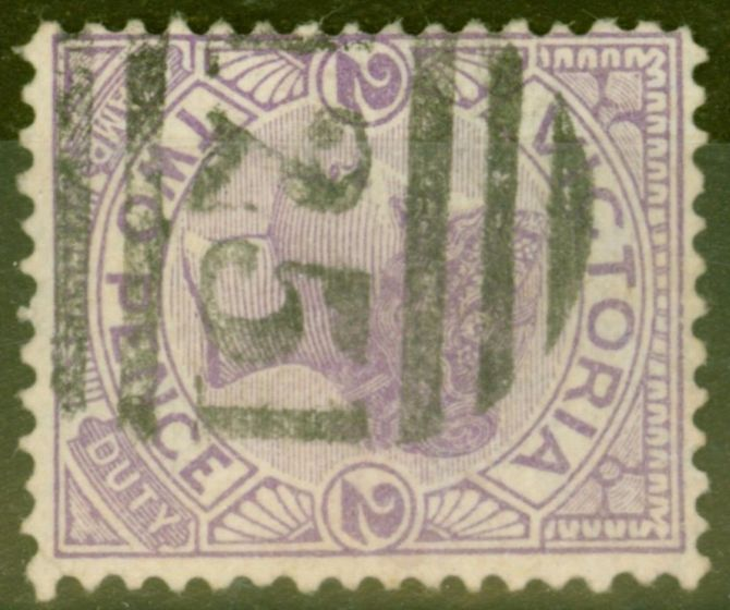Old Postage Stamp from Victoria 1896 2d Violet SG334a Wmk Sideways Fine Used