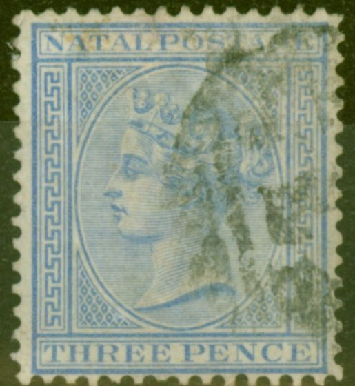 Collectible Postage Stamp from Natal 1874 3d Blue SG68 Fine Used