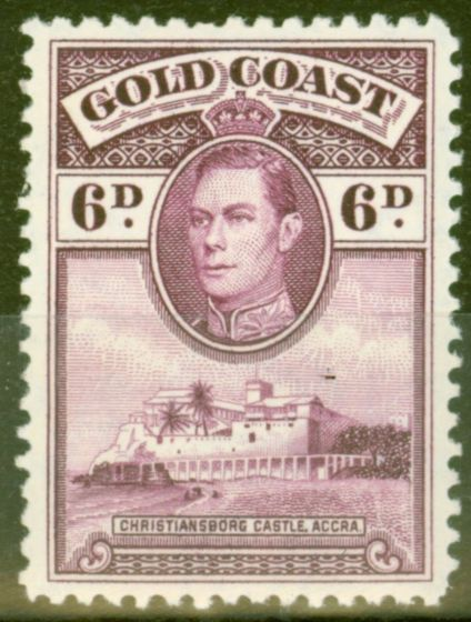 Valuable Postage Stamp from Gold Coast 1938 6d Purple SG126 P.12 Lightly Mtd Mint