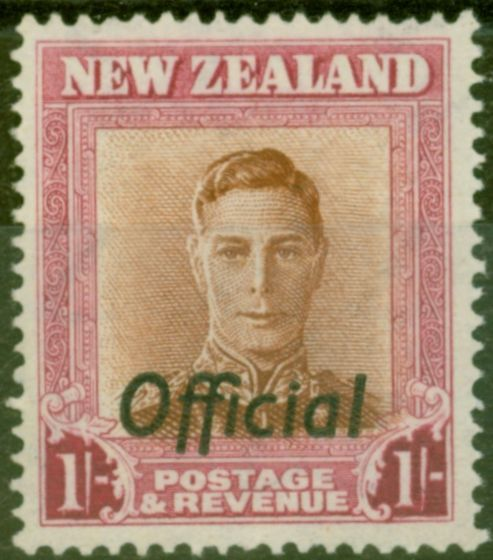 Rare Postage Stamp from New Zealand 1947 1s Red-Brown & Carmine SG0157 V.F MNH