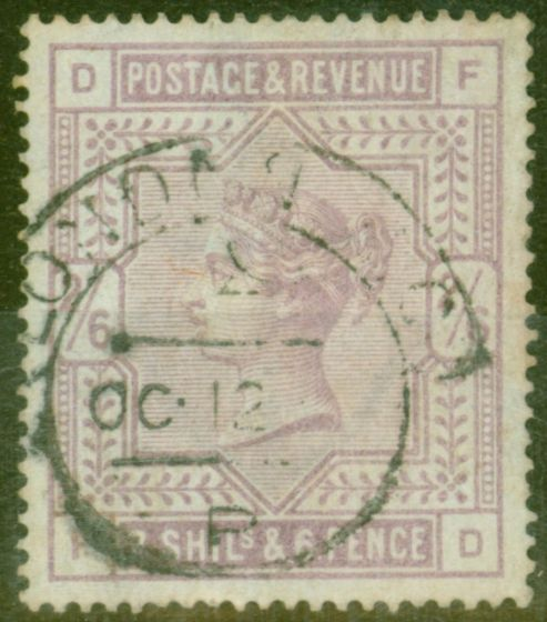 Rare Postage Stamp from GB 1883 2s6d Lilac Blued Paper SG175 Fine Used London Hooded Cancel