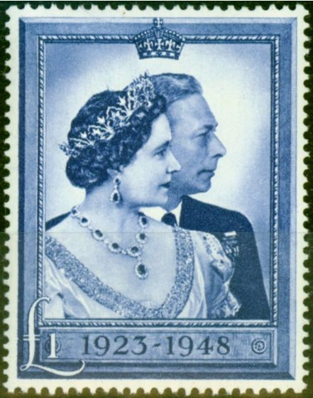 GB 1948 RSW £1 Blue SG494 Very Fine MNH