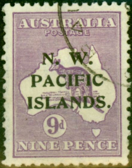 New Guinea 1919 9d Violet SG112 Very Fine Used