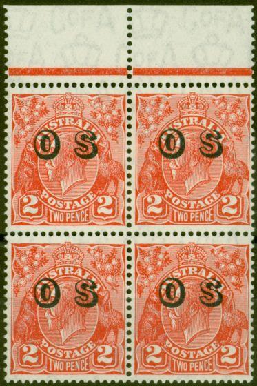 Valuable Postage Stamp from Australia 1932 2d Golden Scarlet SG0130 V.F MNH Block of 4