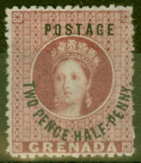 Old Postage Stamp from Grenada 1881 2 1/2d Rose-Lake SG22 Fine Mtd Mint
