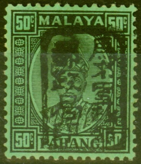 Collectible Postage Stamp from Malaya Jap Occu Pahang 1942 50c Black-Emerald SGJ187 V.F MNH Superb Example Rare
