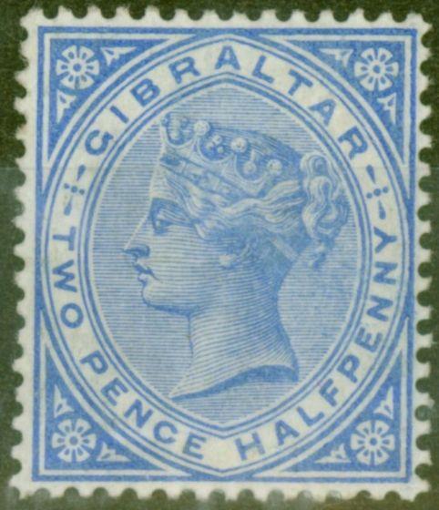 Valuable Postage Stamp from Gibraltar 1886 2 1/2d Blue SG11 Fine Lightly Mtd Mint