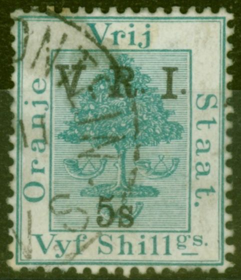 Rare Postage Stamp from O.F.S 1900 5s on 5 Green SG122 Fine Used