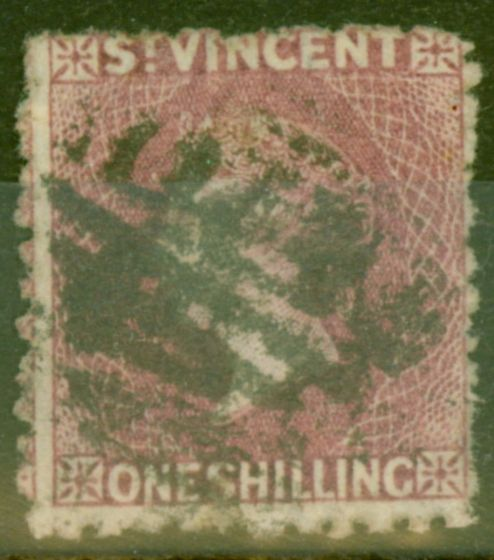 Collectible Postage Stamp from St Vincent 1875 1s Claret SG21 Good Used
