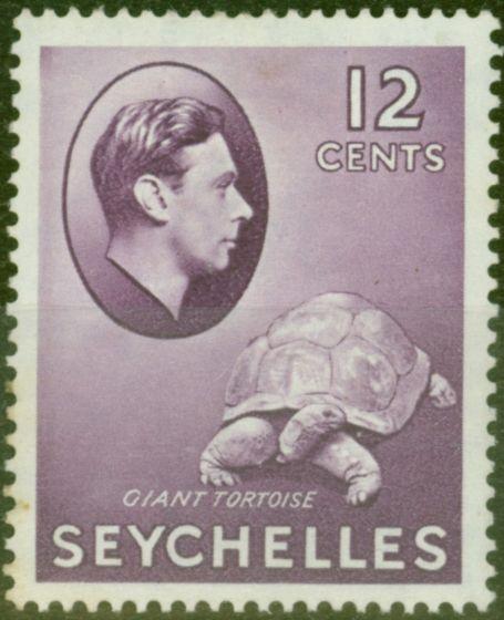 Valuable Postage Stamp from Seychelles 1938 12c Reddish Violet SG139 Fine Mtd Mint
