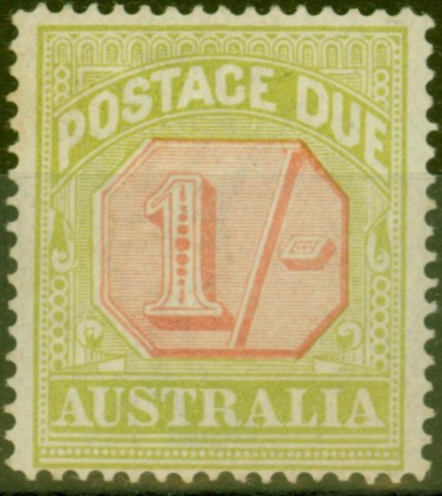 Collectible Postage Stamp from Australia 1923 1s Scarlet & Pale Yellow-Green SGD85 Fine Mtd Mint