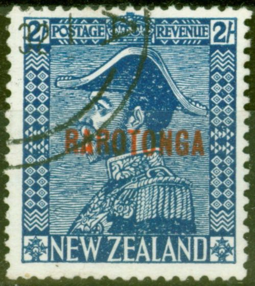Collectible Postage Stamp from Cook Islands 1926 2s Dp Blue SG90 V.F.U