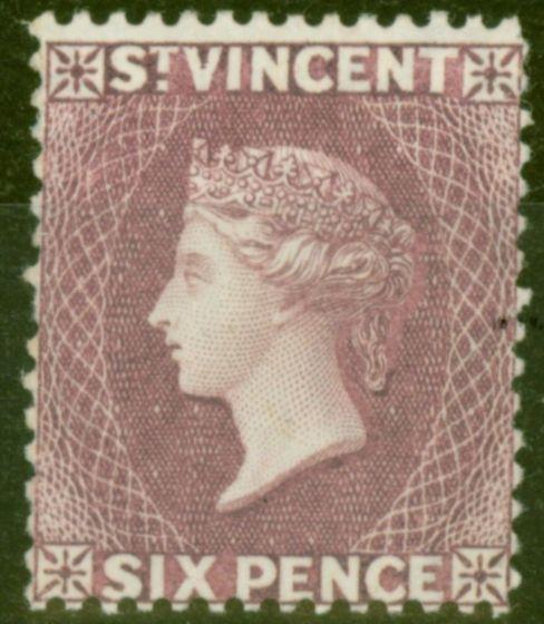 Old Postage Stamp from St Vincent 1888 6d Violet SG52 Fine & Fresh Lightly Mtd Mint